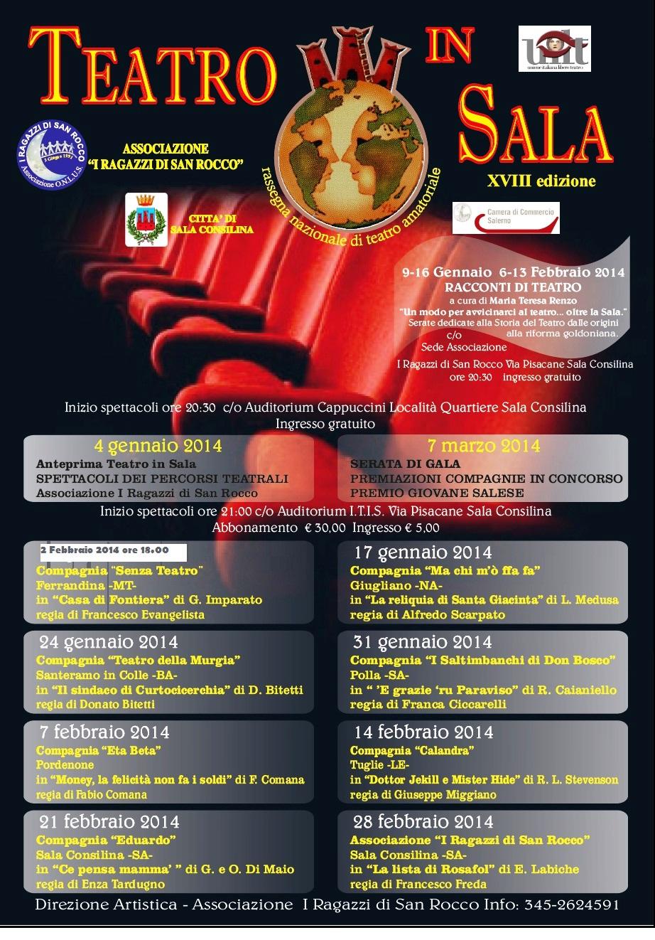 2 Febbraio 2014 – Casa di Frontiera al XVIII° Festival Teatro in Sala di Sala Consilina (SA)