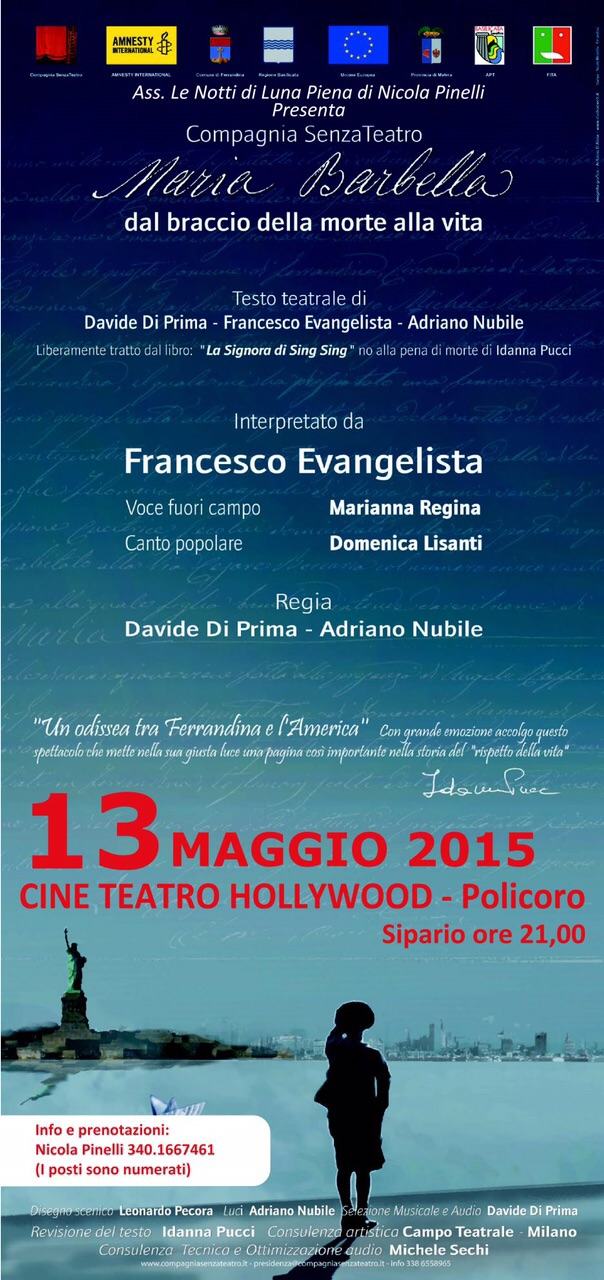 13 Maggio 2015- Maria Barbella- Policoro Cinema Teatro Hollywood