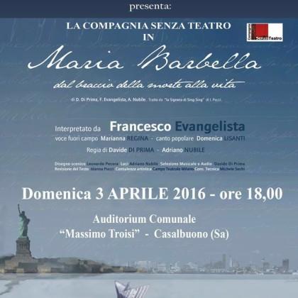 Maria Barbella- 3 aprile 2016 ore 18.00- Auditorium Massimo Troisi Casalbuono (SA)