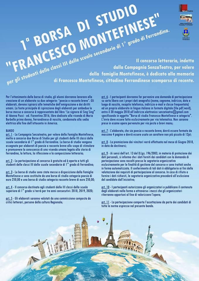 1° Borsa di studio Francesco Montefinese
