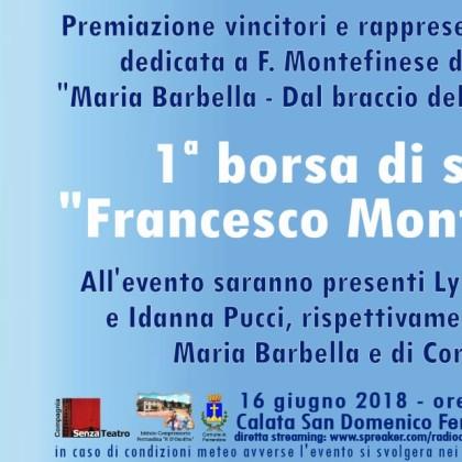 16 Giugno-2018 ore 21.30 Ferrandina – MT- Premiazione Borsa di studio Francesco Montefinese