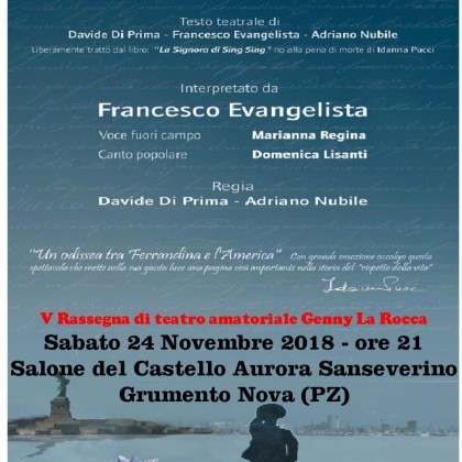 24 Novembre-2018 ore 21.00 Grumento Nova (PZ) V rassegna Teatro Genny La Rocca