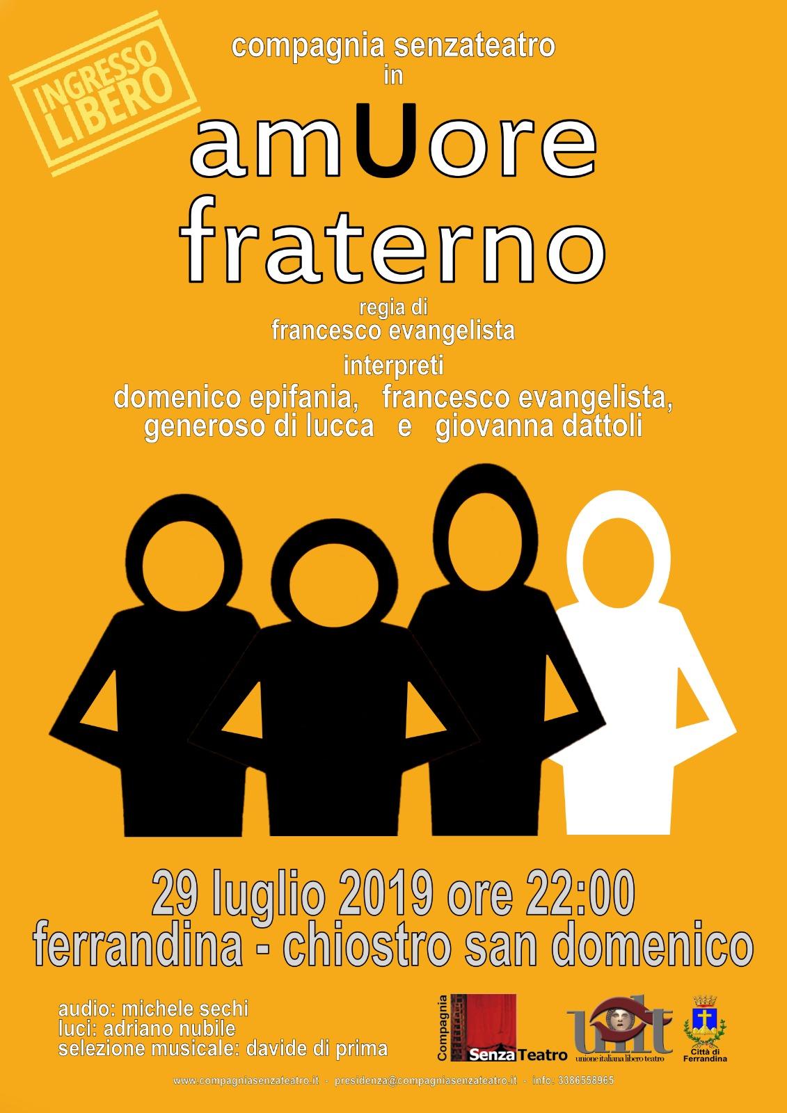 amUore Fraterno- Ferrandina- MT- 29 luglio 2019-ore 22.00